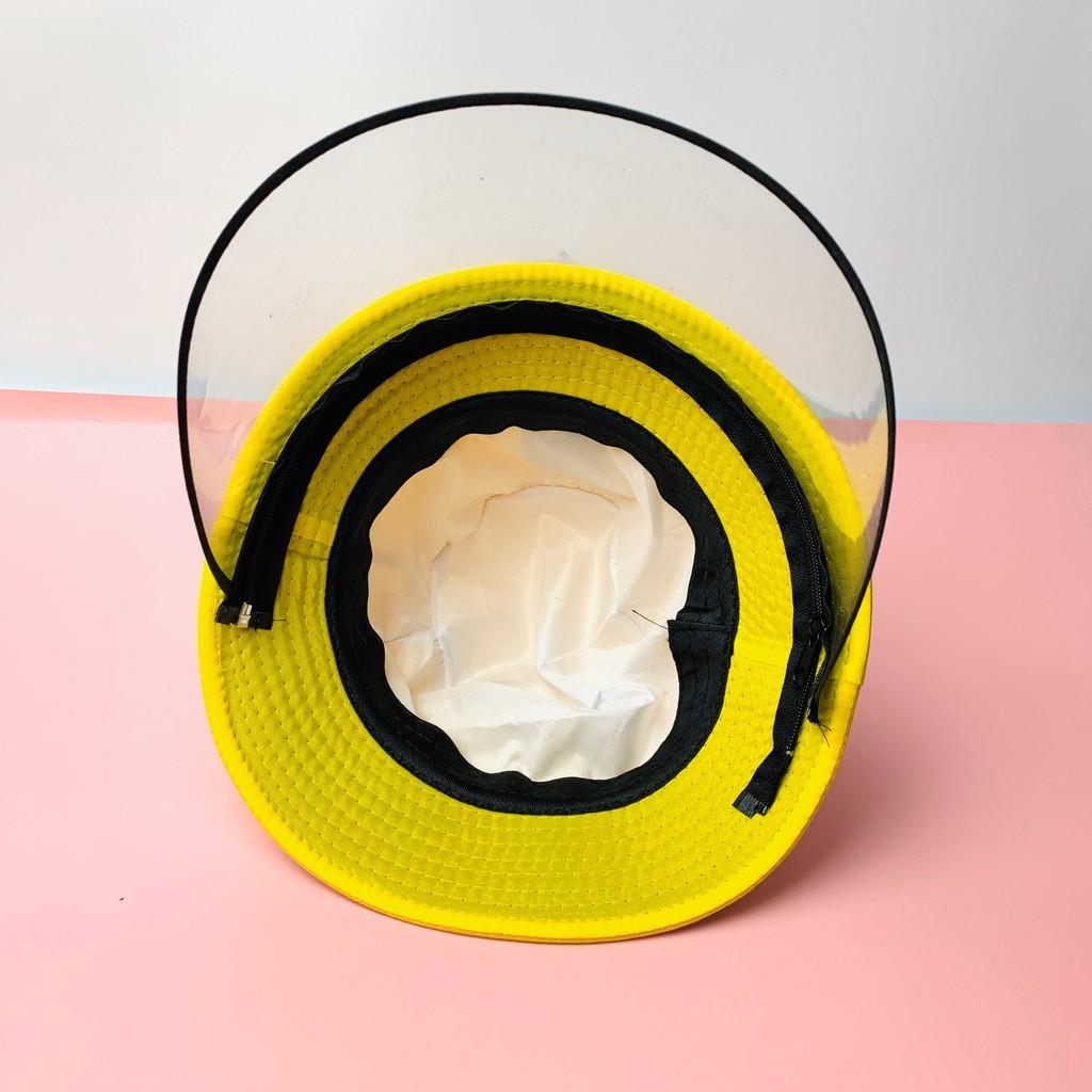Mũ Bucket Tai Bèo Cho Bé Có Kính Chống Dịch, Chống Giọt Bắn, Che Bụi, Chắn Gió Cho trẻ Từ 1-8 Tuổi