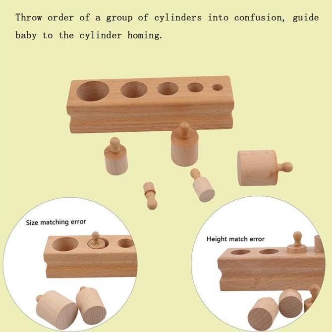 ✨ ✨ Đồ chơi giáo dục Montessori hình trụ