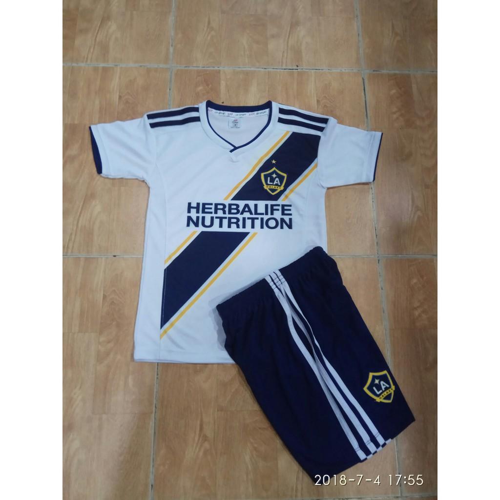 Quần áo đá bóng trẻ em Galaxy trắng 2018