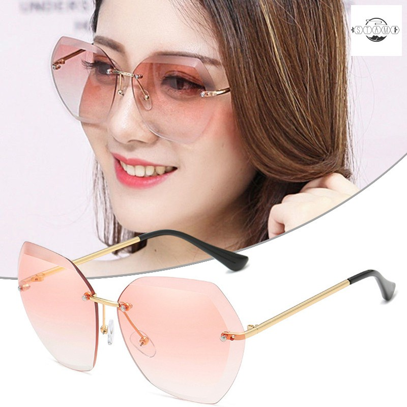 Polarized Sunglasses Lightweight Rimless Sun Protection Special Glasses For Women Men