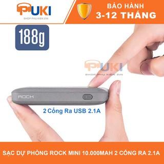 [Trợ Giá ] Sạc Dự Phòng Rock Mini P51 2 Cổng Dung Lượng 10000 mAh thumbnail