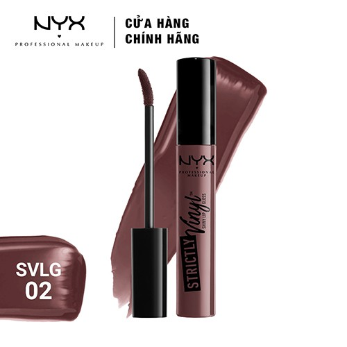 Son bóng NYX Professional Makeup Strictly Vinyl Lip Gloss SVLG02 Baby Doll 3.3ml