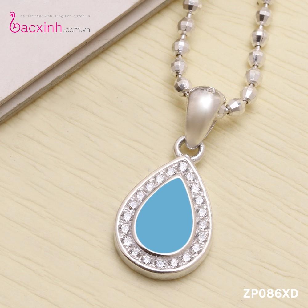 Mặt dây chuyền nữ trang sức bạc Ý S925 Bạc Xinh Hình Giọt nước ZP086