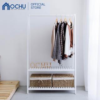 [Mã HLSNVV1212 giảm 15% đơn 99K] Giá Treo Quần Áo Bằng Gỗ Thông OCHU - A Hanger 2F Size M - White thumbnail
