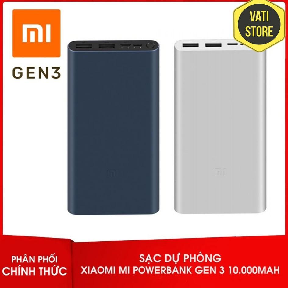 Sạc Dự Phòng Xiaomi 10000Mah gen 3 Sạc Nhanh QC 3.0 - BH 6 Tháng