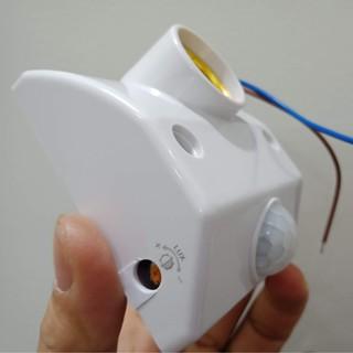 Đui đèn cảm biến cảm ứng chuyển động hồng ngoại chuẩn E27