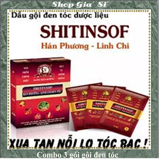 Hộp 3 gói SHITISHOP hán phương - linh chi đen tóc