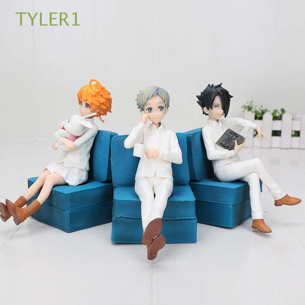 TYLER1 Collectible Figure Model Toys PVC Anime Model Emma Action Figurine Miniatures Norman Statue Desktop Decorations Emma Home Ornaments The Promised Neverland