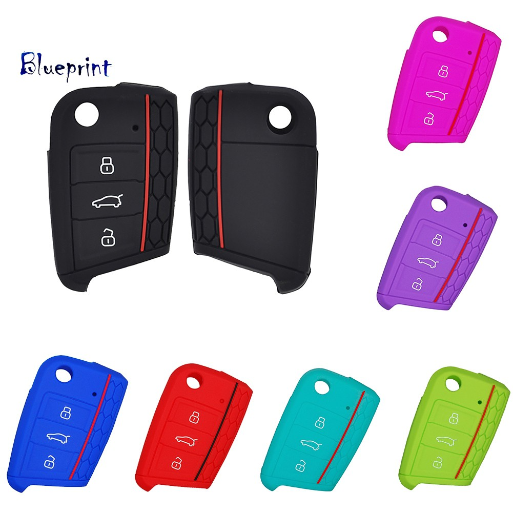 囍BPKey Remote Case Cover Shell For VW Golf 7 MK7 Skoda A7 Silicone Car Accessories