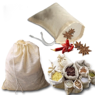 Reusable Drawstring Cotton Soup Bags, Straining Herbs Cheesecloth Bags, Coffee Tea Brew Bags, Soup Gravy Broth Bags, Stew Bone Broth Brew Bags