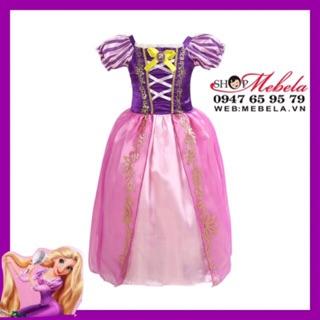 V458 - VÁY CÔNG CHÚA TÓC MÂY Rapunzel CHO BÉ GÁI 13-31kg