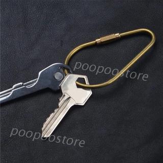 POOP Handmade Gourd Shape Brass Keychain EDC Camping Tools