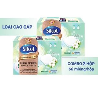 Hình ảnh Bộ 2 hộp Bông trang điểm (bông tẩy trang) cao cấp Silcot Premium 66 miếng/hộp-1