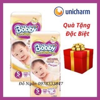 [Quà Tặng Cho Mỗi Gói) Tã Dán Quần Bobby Siêu Mềm Extra Soft Dry Size NB48 S70 S40 Cho Bé Từ Sơ Sinh đến 7kg thumbnail