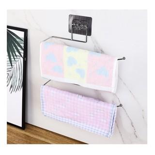 Giá treo cuộn giấy vệ sinh, treo khăn dán tường độc đáo - Giá treo đồ đa năng bằng thép không gỉ
