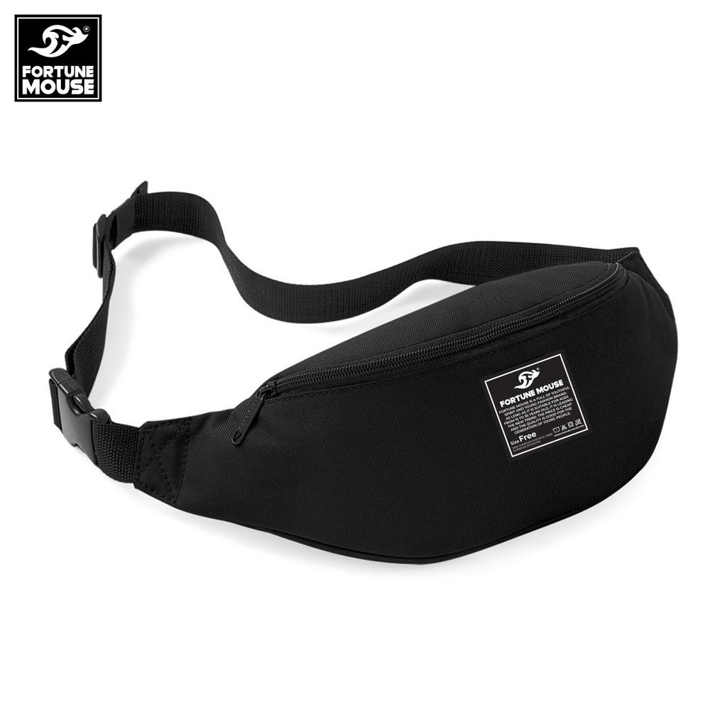 Hình ảnh Túi đeo chéo nam Fortune Mouse classic KQ195 (màu đen)-0