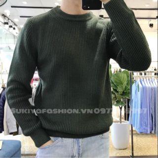 Áo len cao cấp màu xanh rêu dày dặn