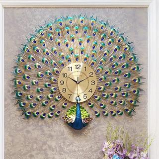 Đồng hồ treo tường trang trí mẫu công khổng tước đuôi quạt