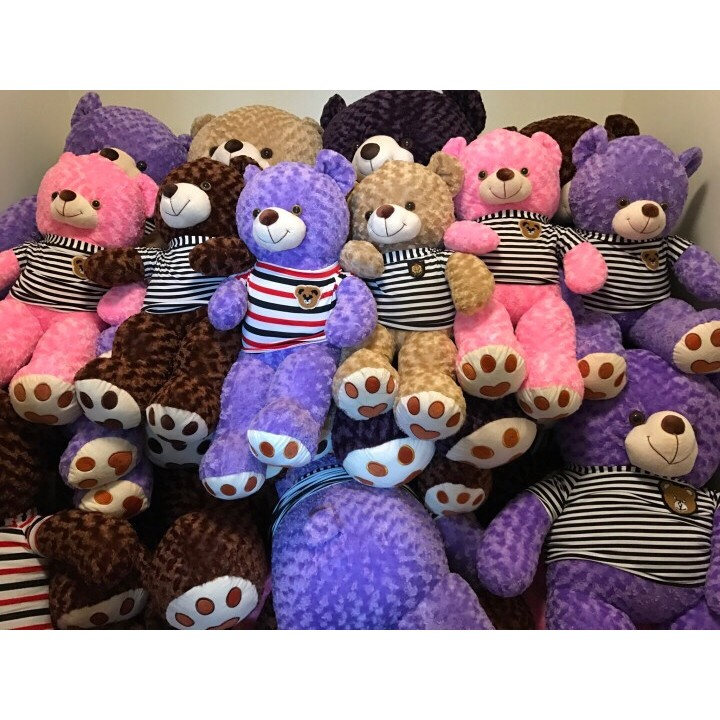 Thanh lý 490k - Gấu Teddy 1m4 - Gấu bông Tím rẻ nhất