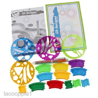 New Geometric Ruler Stencil Spiral Art Classic Toy Stationery Tools for Kids