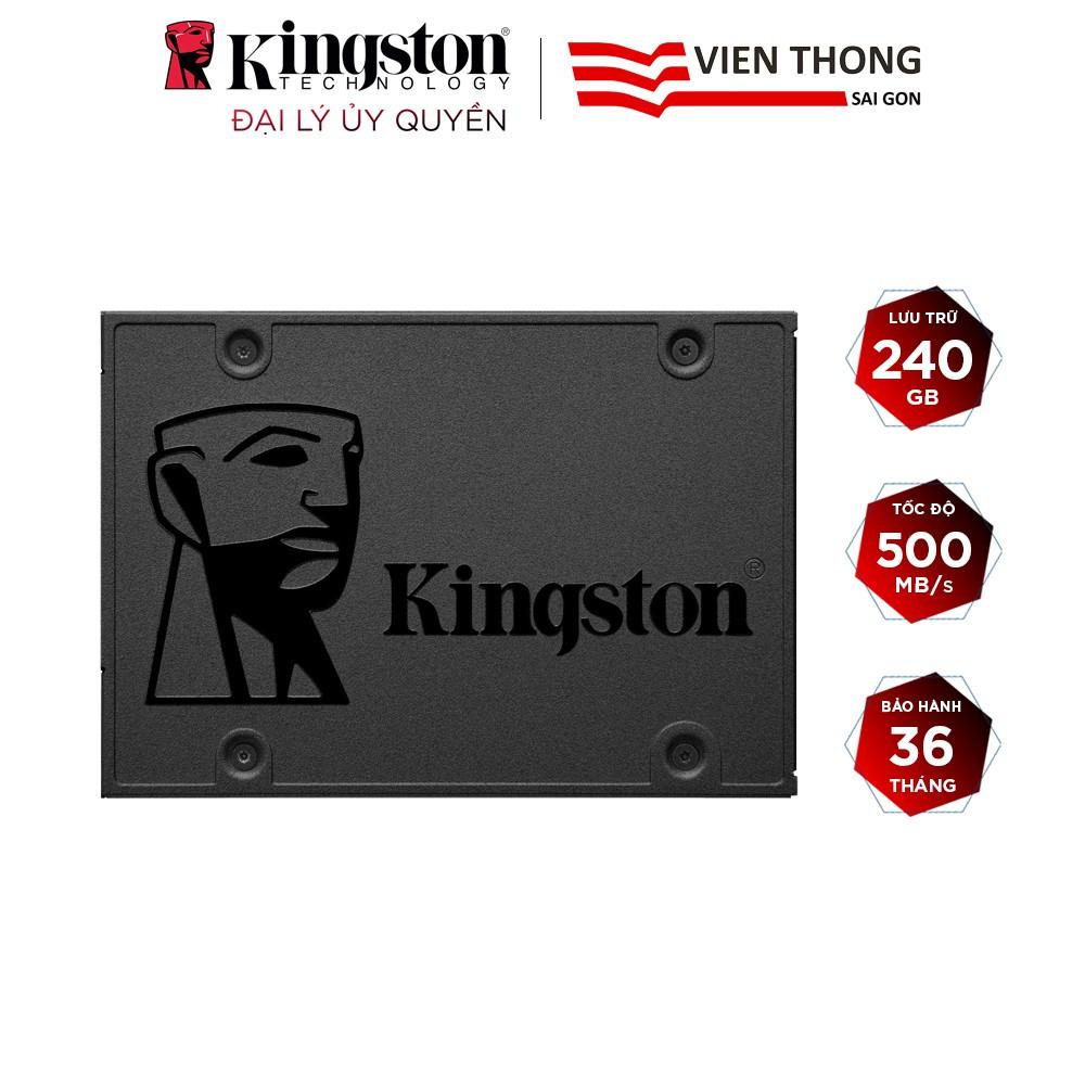 Ổ cứng SSD Kingston NOW A400 240GB 2.5'' SATA III (SA400S37/240G) - Hãng phân phối chính thức