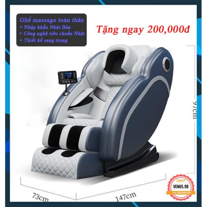 Ghế massage toàn thân nhập khẩu thế hệ mới, thân thiện môi trường - VENUS.98
