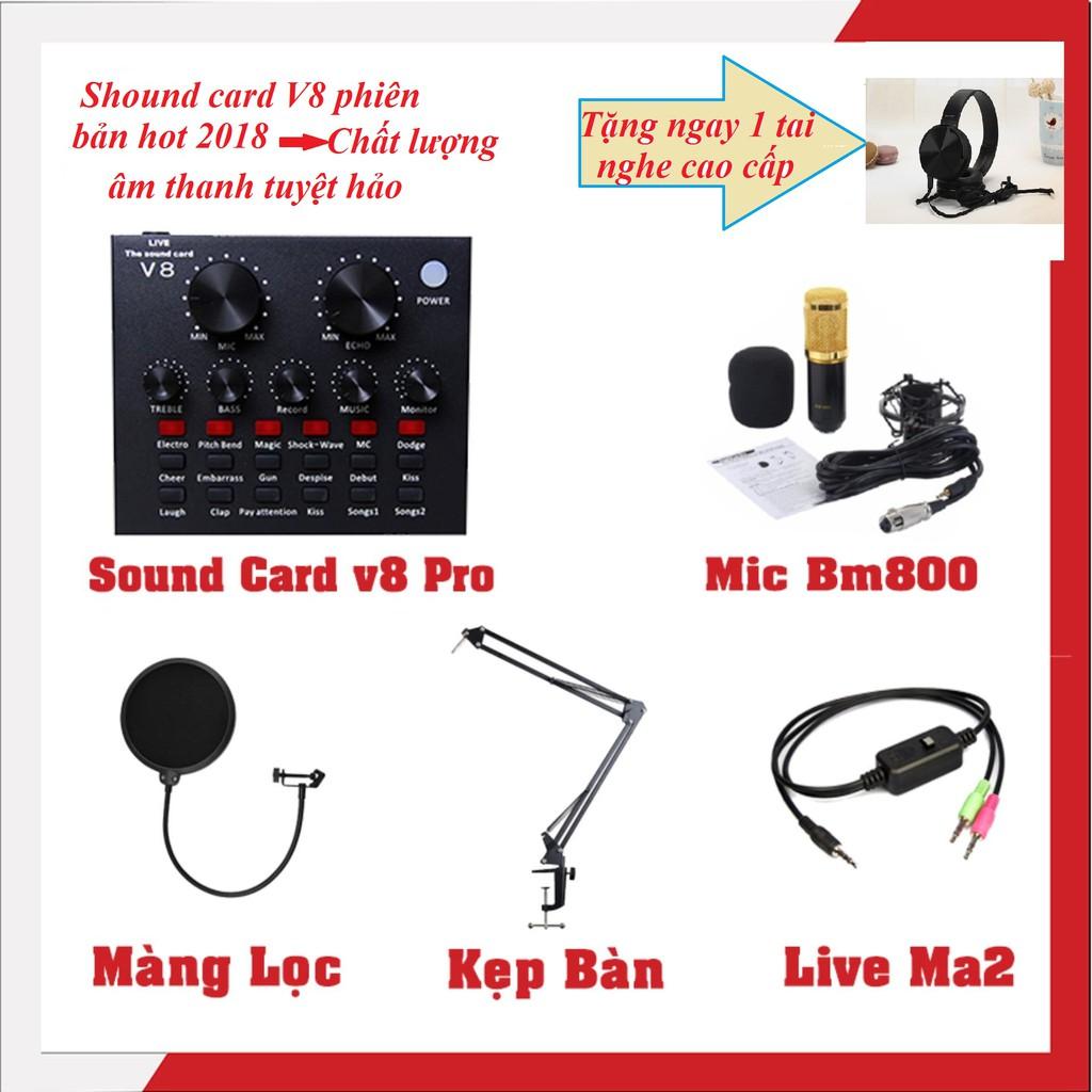 Combo trọn bộ livestream BM-800 -màng lọc-chân kẹp-dây live tream -sound card V8 tặng tai nghe cao - 2598123 , 1324486242 , 322_1324486242 , 889000 , Combo-tron-bo-livestream-BM-800-mang-loc-chan-kep-day-live-tream-sound-card-V8-tang-tai-nghe-cao-322_1324486242 , shopee.vn , Combo trọn bộ livestream BM-800 -màng lọc-chân kẹp-dây live tream -sound ca