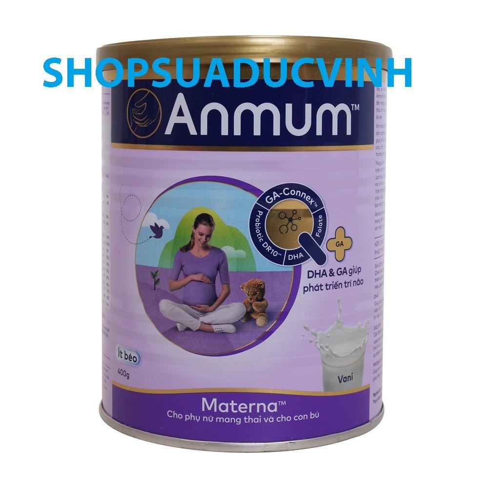 (TKB0718W2B giảm 3% tối đa 20k) Sữa bột Anmum Materna Vani 400g date 2020