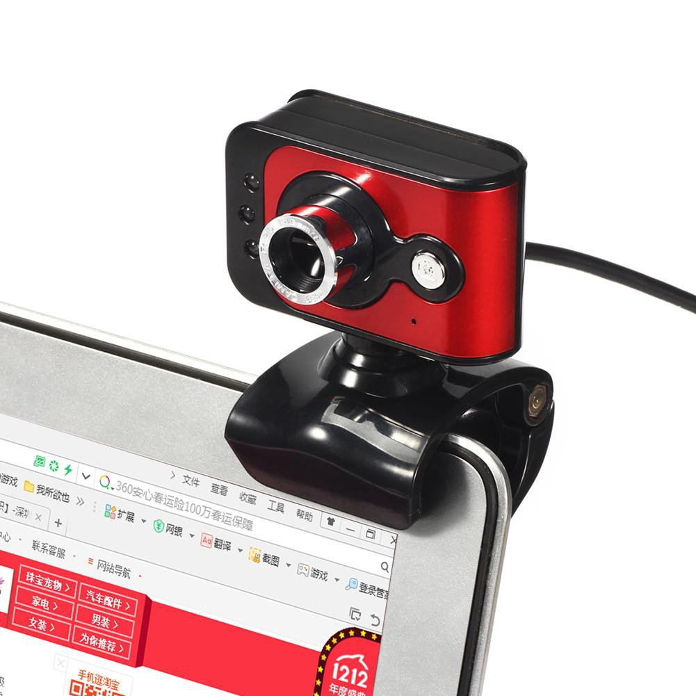 20MP USB 2.0 HD Webcam Caa 3 LED WebCam Built-in MIC for PC Laptop Charmant.vn