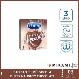 [CHÍNH HÃNG] Bao cao su Hương Vị Socola DUREX NAUGHTY CHOCOLATE – Hộp 3 Chiếc