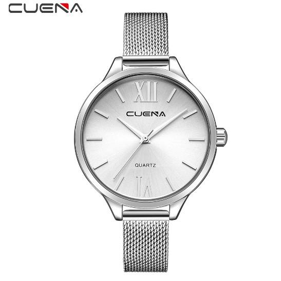 Đồng hồ nữ Cuena màu trắng cực chất