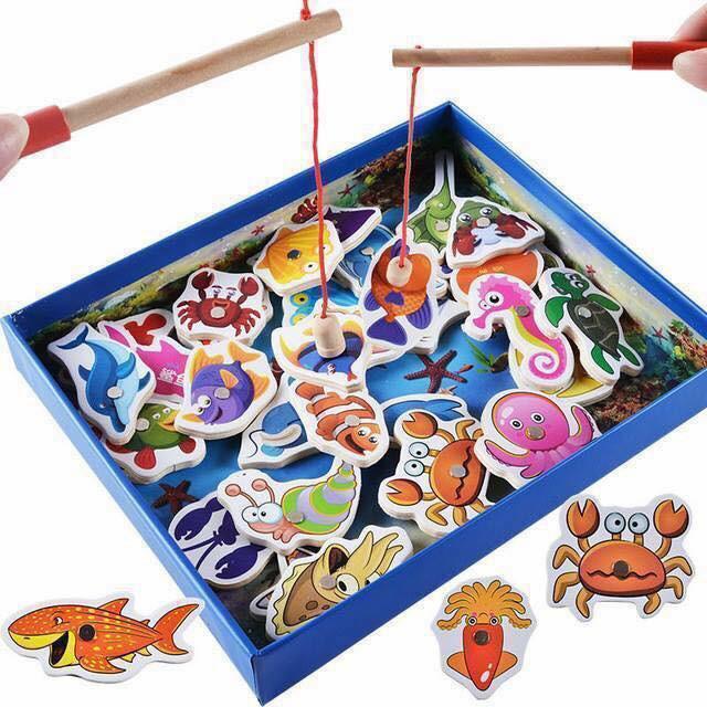Bộ đồ chơi câu cá nam châm gỗ cho bé - 3569458 , 1305023222 , 322_1305023222 , 100000 , Bo-do-choi-cau-ca-nam-cham-go-cho-be-322_1305023222 , shopee.vn , Bộ đồ chơi câu cá nam châm gỗ cho bé