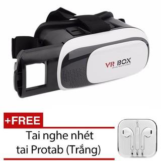Kính thực tế ảo 3D VR Box xem phim trên điện thoại VRB-V2( tặng tai nghe nhét tai MiMi trắng) thumbnail