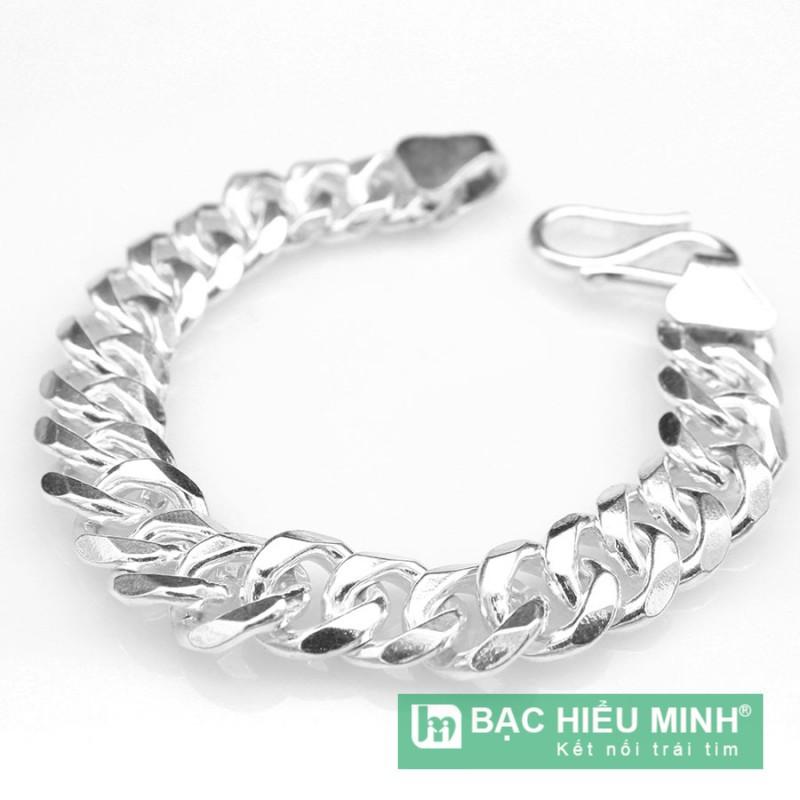 lắc tay nam bằng bạc ta BẠC HIỂU MINH ltn023 2 cây