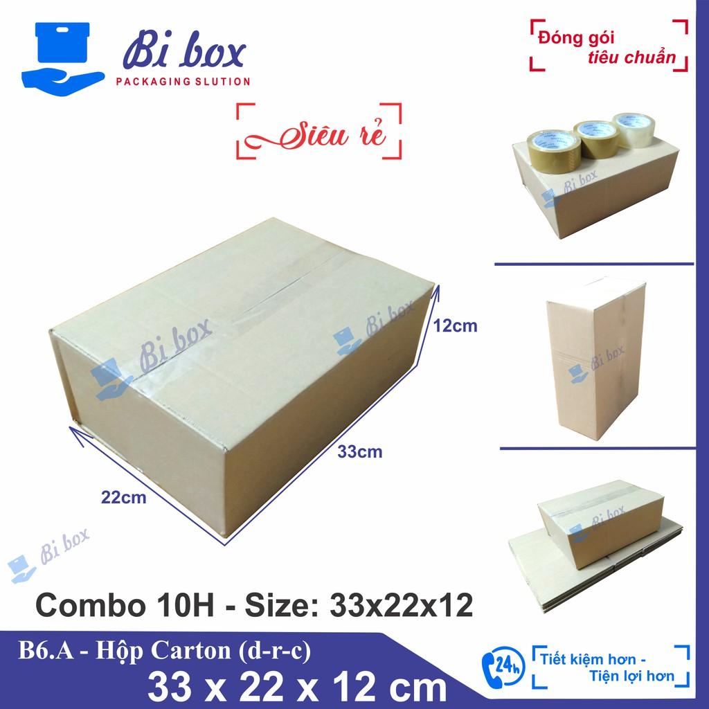 Combo 10 Hộp Carton 33x22x12 - Thùng Giấy Carton Giá Rẻ