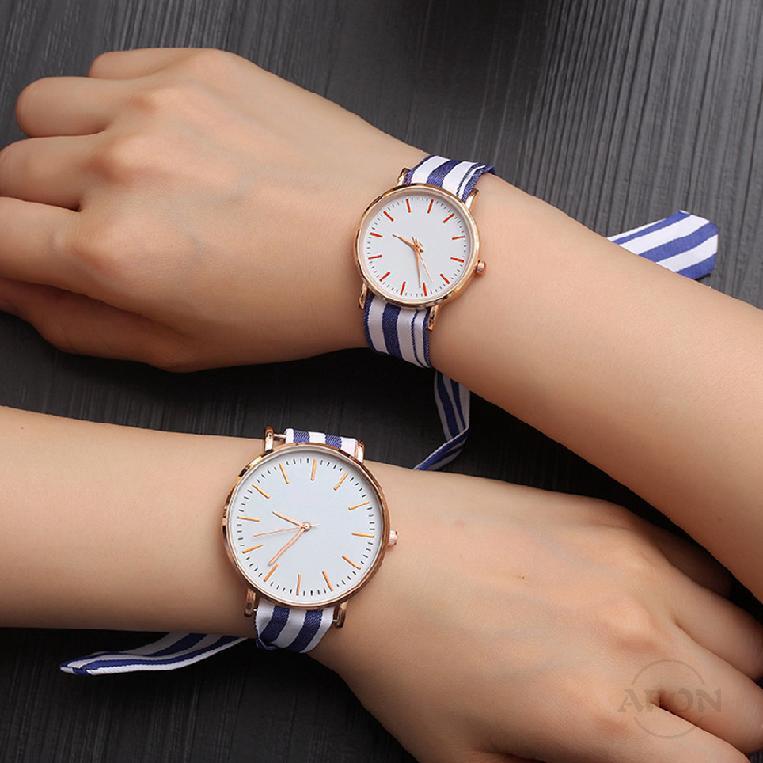 Cod✦ นาฬิกาผู้หญิงผ้าเรียบง่ายวรรณกรรมนักเรียนสดและทันสมัย 86