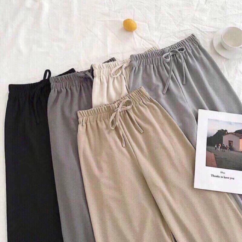Quần ống rộng culottes vải tăm 95cm_TBM001 Amee Fashion