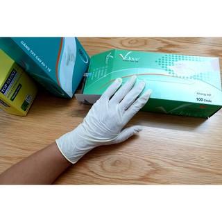 [Size S, M] Găng tay y tế VGlove Khải Hoàn không bột cao cấp - Chính Hãng (Màu trắng sữa) thumbnail