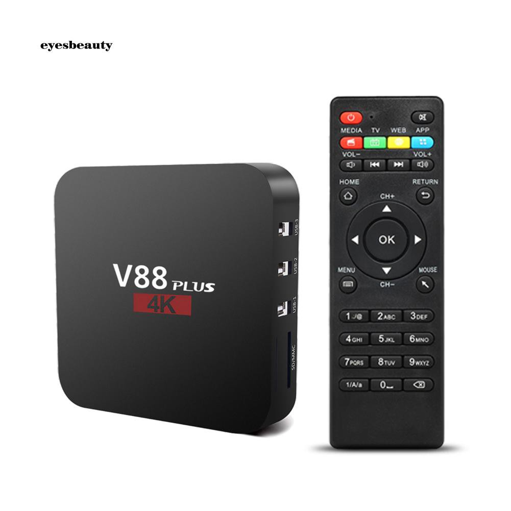 EBTY V88 Plus Smart TV RK3229 Quad Core Top Box 1+8G Miracast WiFi for Android 7.1 Giá chỉ 501.510₫