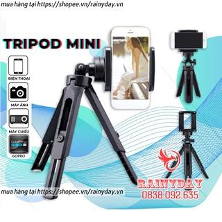 Chân đỡ điện thoại, tripod mini để kẹp điện thoại máy ảnh 3 chân livestream quay phim video chụp ảnh