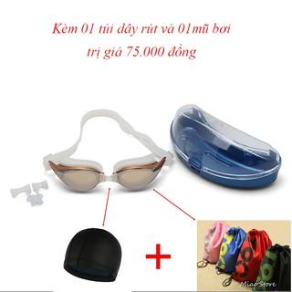 [Combo 3] Kính bơi Shenyu tráng bạc chống tia UV kèm mũ bơi và túi T90 KB 1027