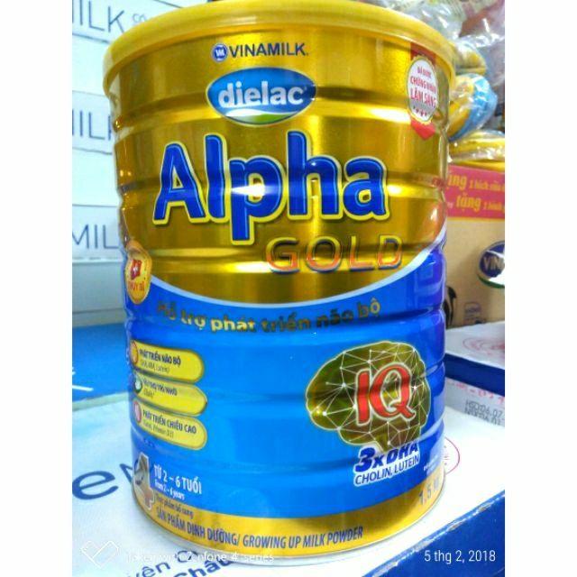 Sữa Dielac Alpha Gold 4 1,5kg