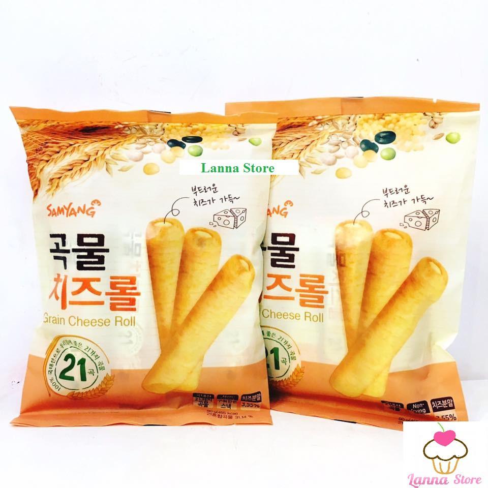 Combo 3 bánh ngũ cốc cuộn phô mai Samyang - xuất xứ: Hàn Quốc ??.
