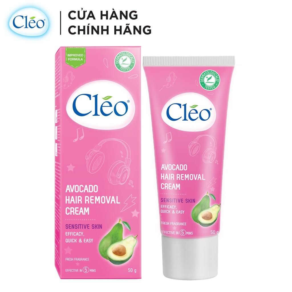 Kem Tẩy Lông Cho Da Nhạy Cảm Cleo Avocado Hair Removal Cream Sensitive Skin 25g/50g