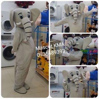 Quần áo hoá trang Mascot Voi xám – sinh nhật, sự kiện