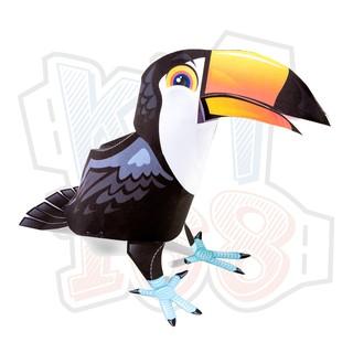 Mô hình giấy Chim Toucan