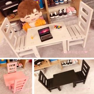 Bộ bàn ghế lắp ráp cho doll 15cm 20cm và bjd 1/8 1/6 blythe azone