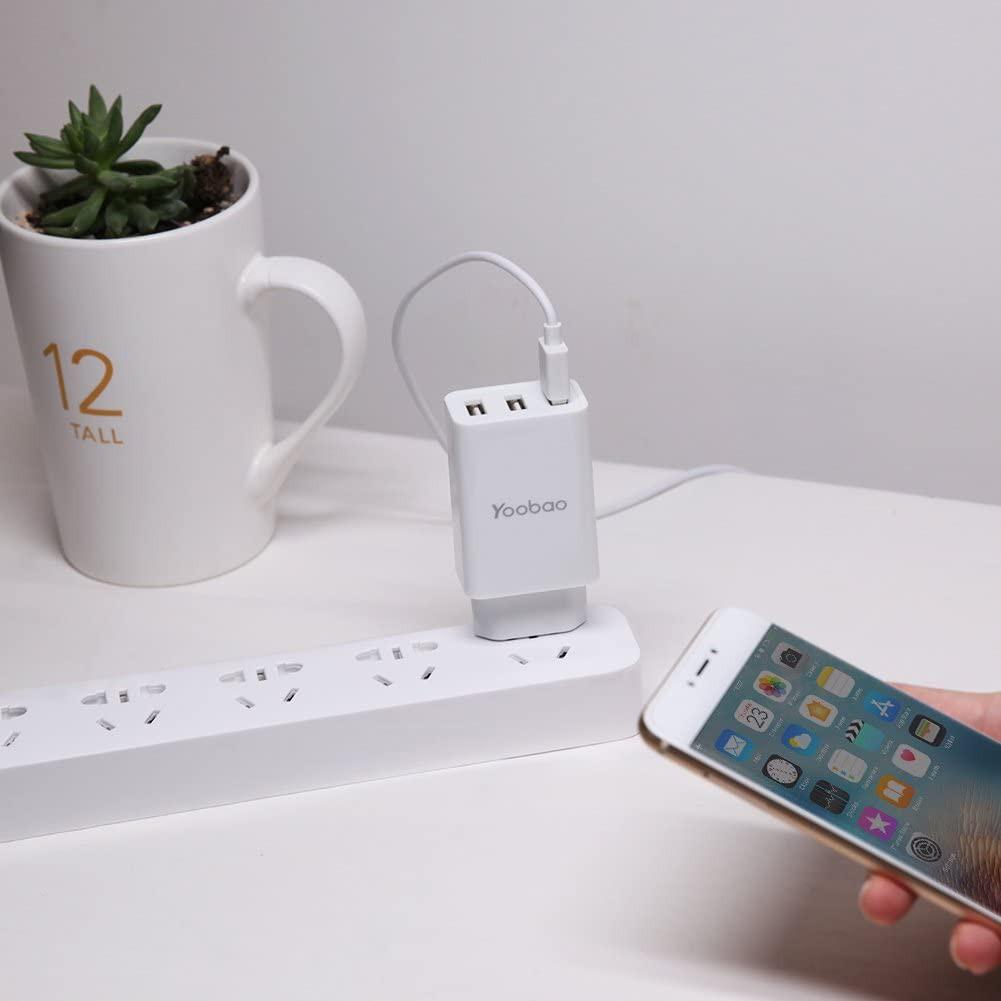 Cốc sạc 3 cổng USB cho điện thoại, máy tính bảng YOOBAO Y