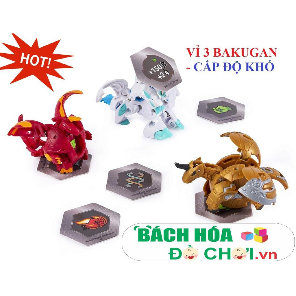 Vỉ đồ chơi 3 con Siêu chiến binh Bakugan