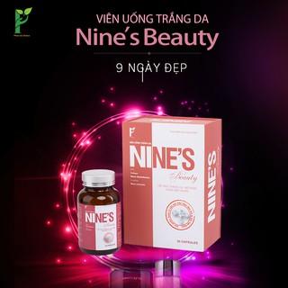 Viên Uống Trắng Da Nine's_Beauty _Phiên Bản Mới [Tặng Bông tẩy trang trị giá 50K]
